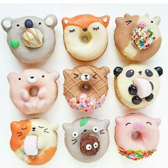 donuts kawaii animales
